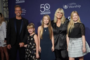 Singer Natalie Grant and family Walk the Red Carpet at the 50th GMA Dove Awards at Linbscome University in Nashville, Tennessee on October 15, 2019.  Photo Credit:  Marty Jean-Louis