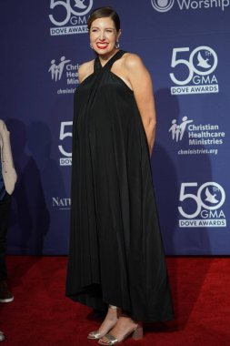 Singer Francesca Battistelli Walk the Red Carpet at the 50th GMA Dove Awards at Linbscome University in Nashville, Tennessee on October 15, 2019.  Photo Credit:  Marty Jean-Louis