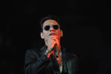 Latin Singer Marc Anthony Performs at the Amway Center in Orlando Florida on October 5, 2014.