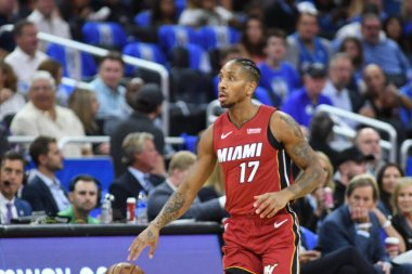 Orlando Magic host the Miami Heat at the Amway Center in Orlando Florida on October 17, 2018.