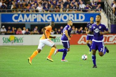 Orlando City SC host the Houston Dynamo on July 8, 2016 at Camping World Stadium in Orlando Florida.