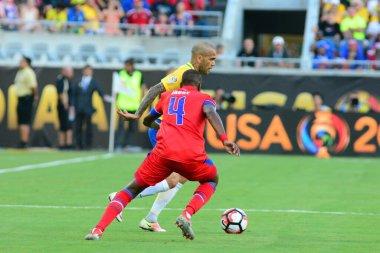 Brazil face Haiti during the Copa America Centenario in Orlando Florida at Camping World Stadium on June 8, 2016.