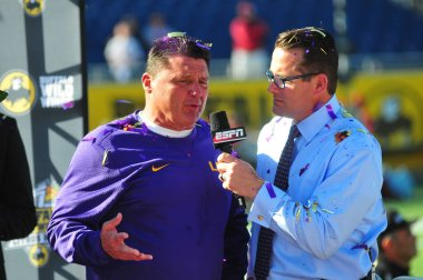 LSU face Louisville during the 71st Citrus Bowl at Camping World Stadium in Orlando Florida on December 31, 2016.