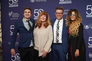 Red Carpet during the 50th GMA Dove Awards at Linbscome University in Nashville, Tennessee on October 15, 2019.