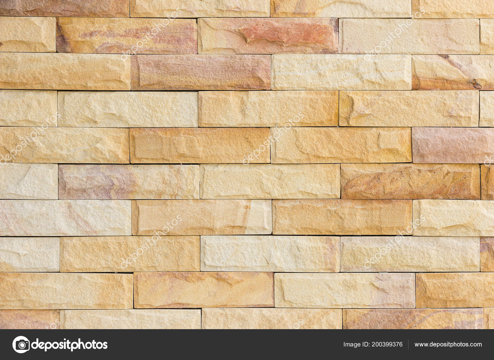 Walls Decorated Sandstone Material Brown Color — Stock Photo ...