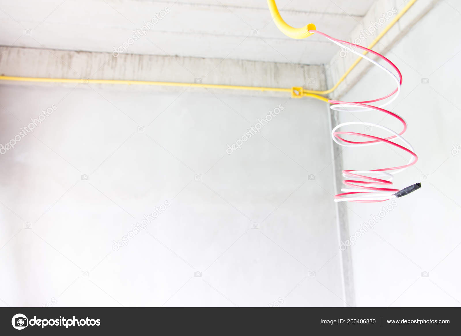 Astounding Piping Electric Cables Construction Stock Photo C Kasipat 200406830 Wiring Database Pengheclesi4X4Andersnl