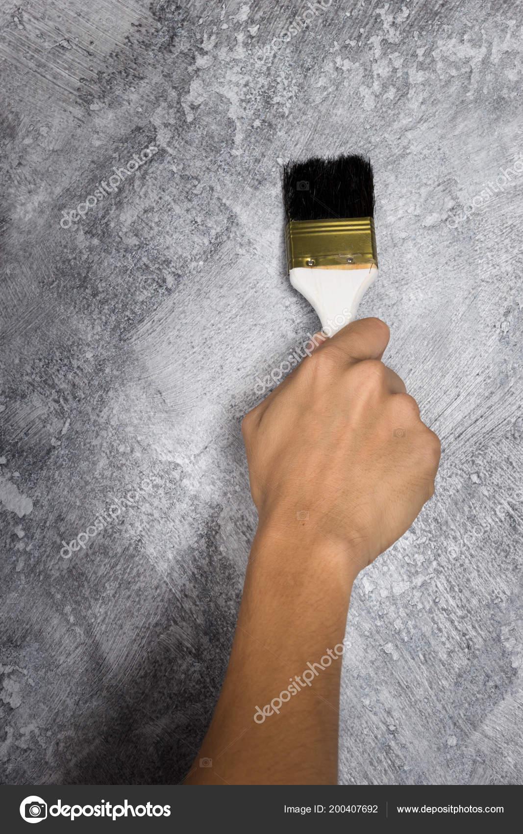 Couleur Peinture Béton Loft Style Travail Main Sur Mur