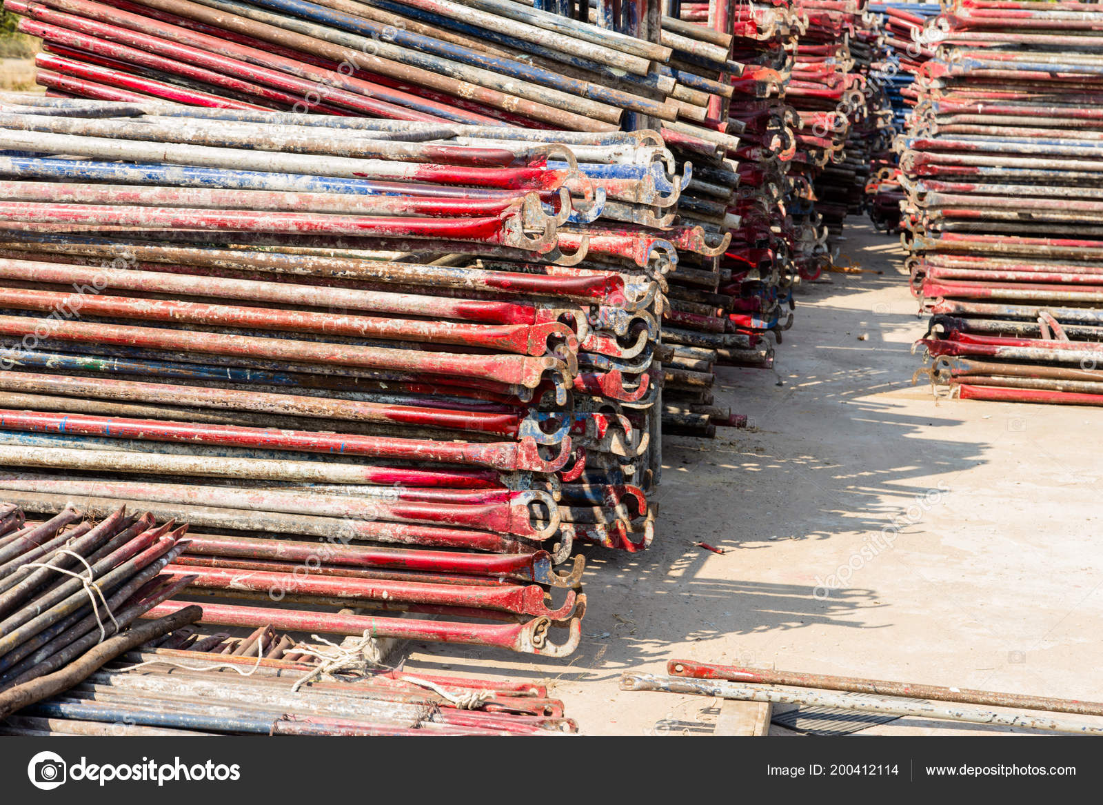 Storage Scaffolding Site Construction U2014 Stock Photo