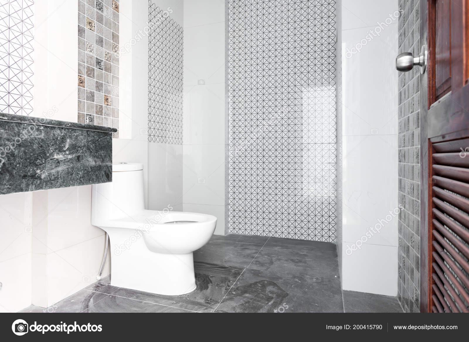 Accueil Salle Bain Design Moderne Blanc Sanitaires Dans Salle Bain ...