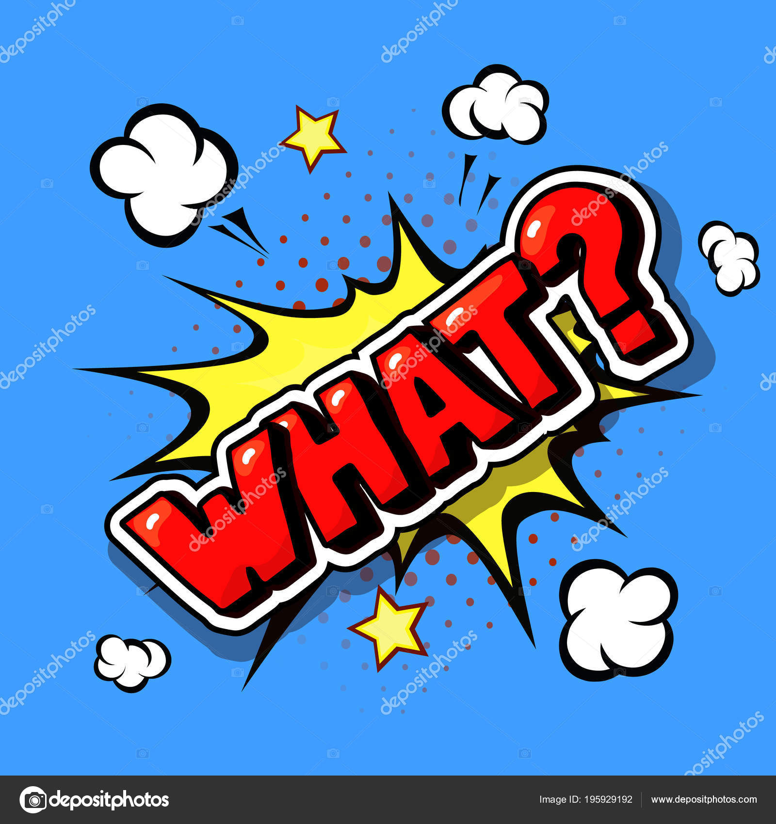 What Comic Explosion Pop Art In Vector Cartoon Style Stock