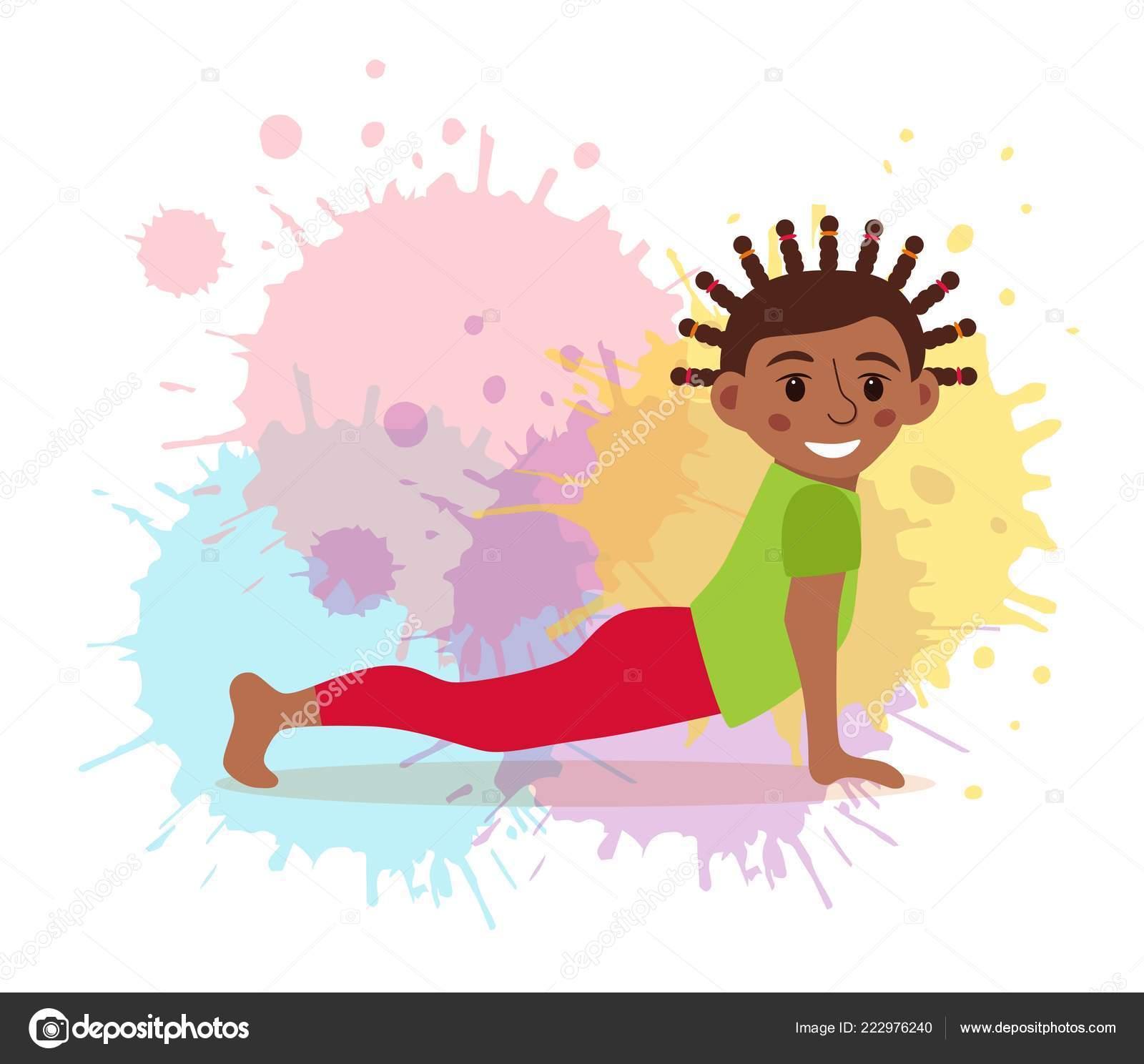 Vettore: disegno ginnastica per bambini. ginnastica di simpatico