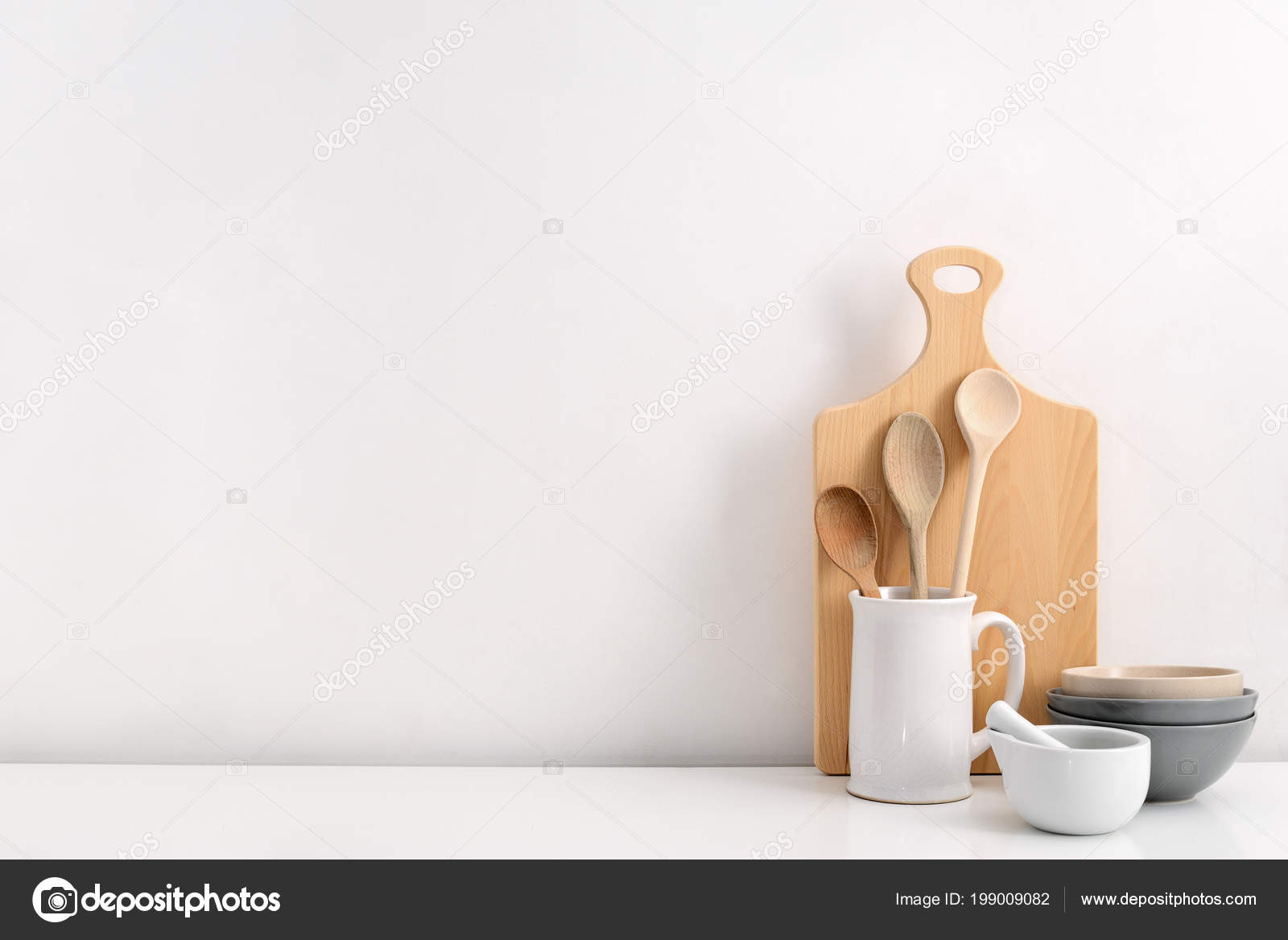 Kitchen Utensils Background Blank Space Text Home Kitchen Decor Concept U2014  Stock Photo
