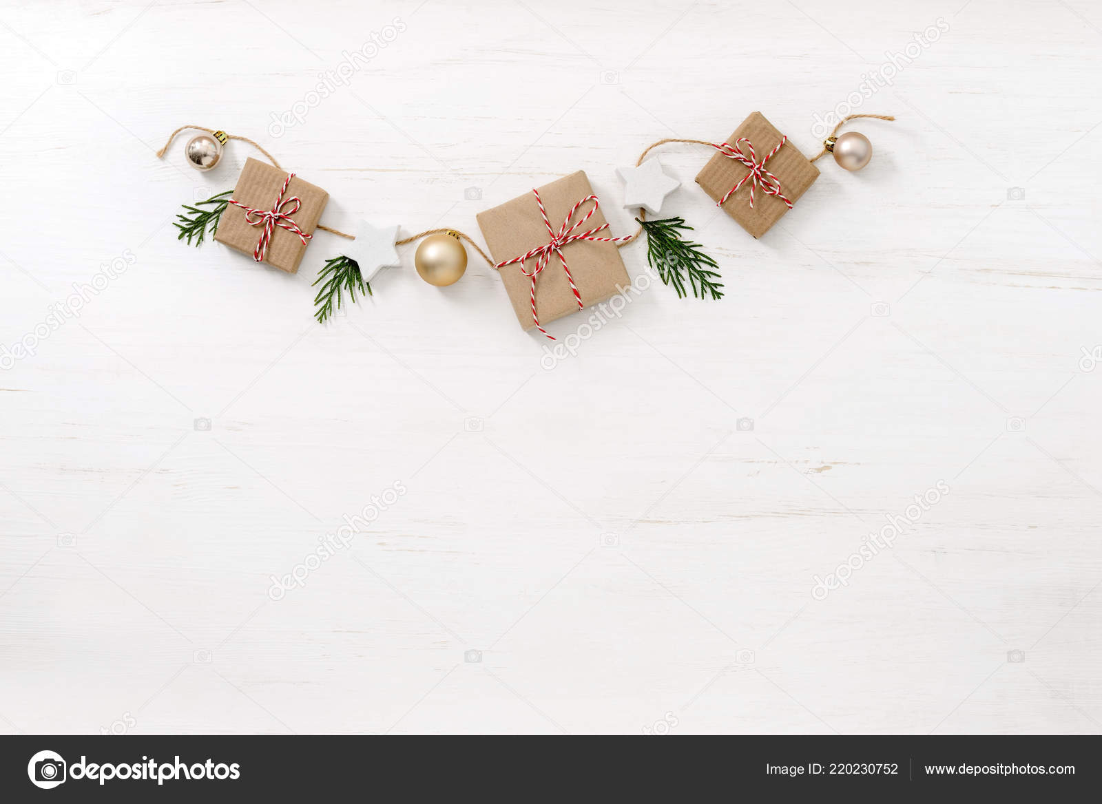 Noel Christmas Rustic Home Decor Background Space Greeting Text Flat