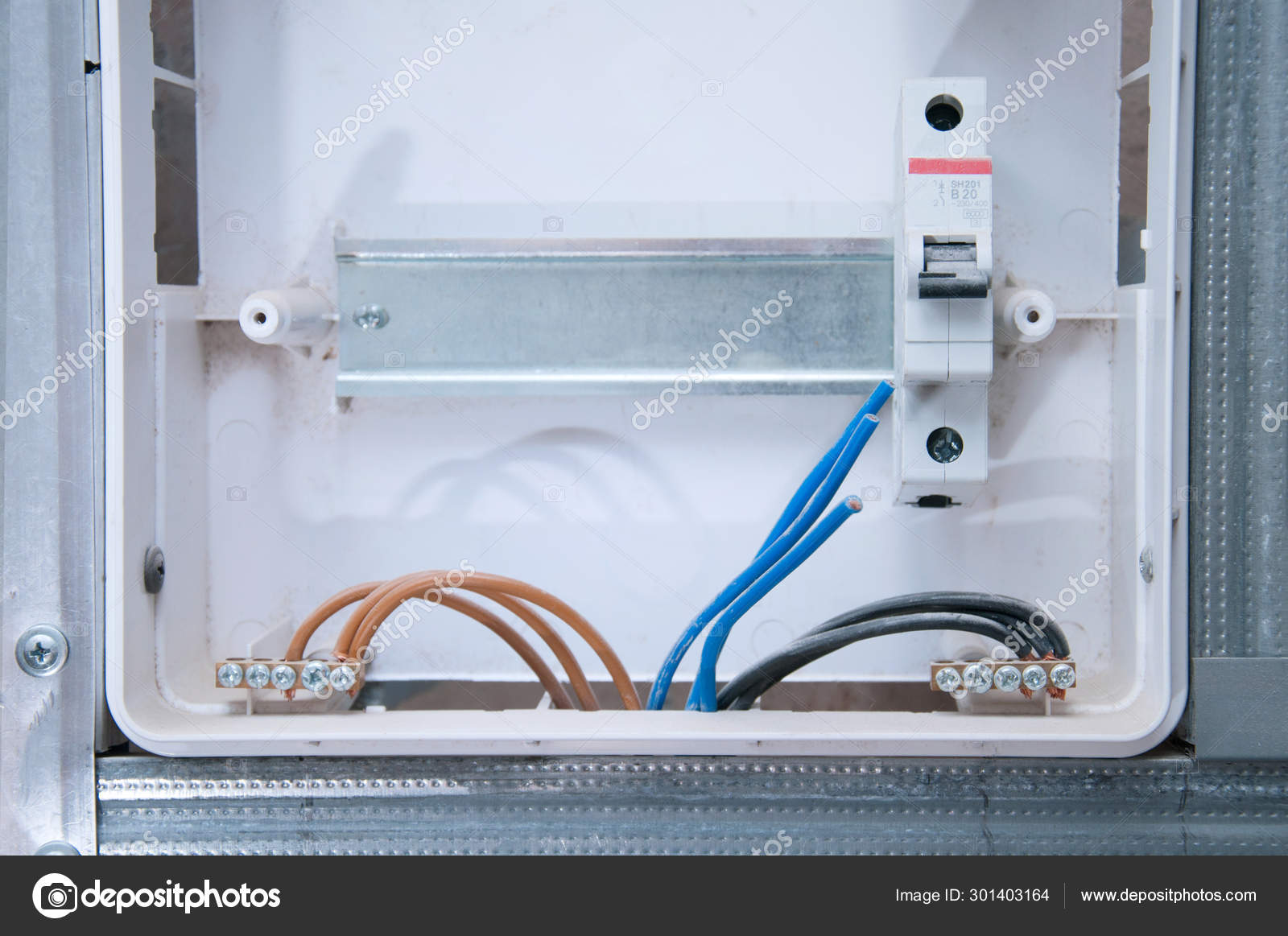[DIAGRAM_4PO]  Electrical Wiring House Guard Machine Guns Wired Cables Safe Cabling —  Stock Photo © Dekol #301403164 | House Wiring Machine |  | Depositphotos