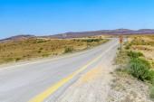 Paesaggio di Hamakhtesh Hagadol (il grande cratere). È un geomorfismo erosione geologico nel deserto del Negev, Israele meridionale