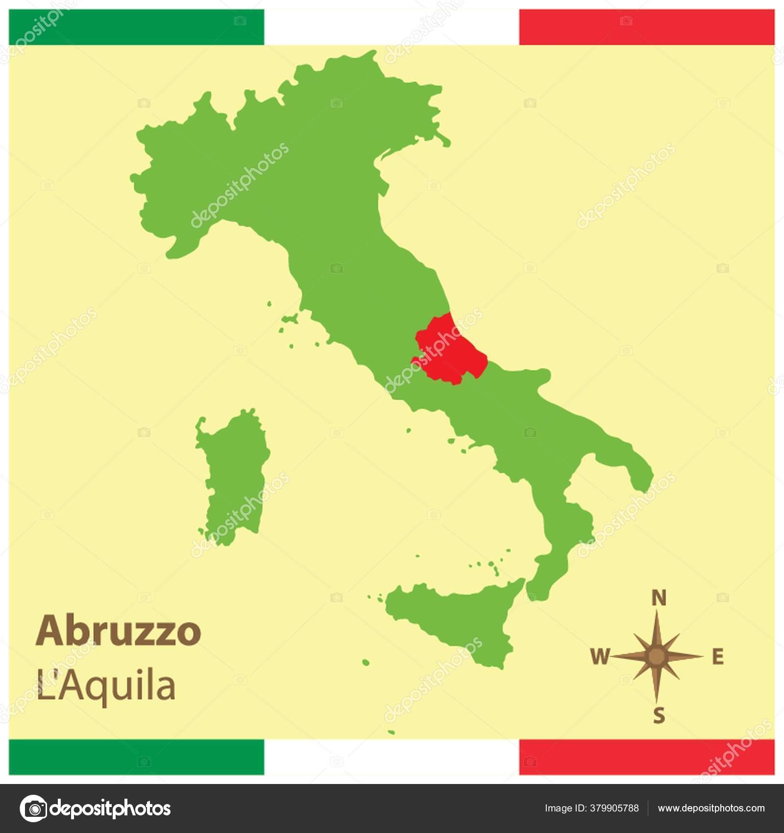 Cartina Italia Politica Vettoriale