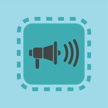 A megaphone icon illustration.
