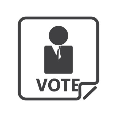 Election candidate flat icon, vector illustration