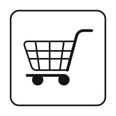 Shopping cart  flat icon, vector illustration