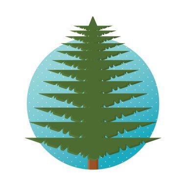 tree icon in flat design. vector illustration