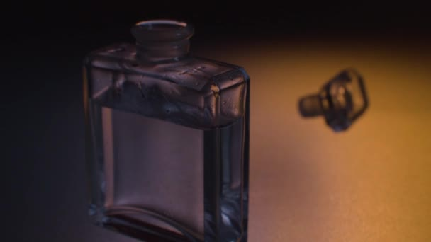 Glass bottle of perfume