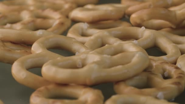 Pretzels on the glass table