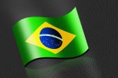 Brazil flag waving banner