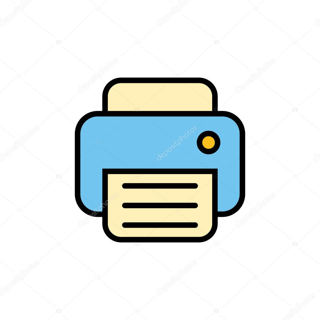printer icon isolated on white background print icon fax vector icon premium vector in adobe illustrator ai ai format encapsulated postscript eps eps format wdrfree