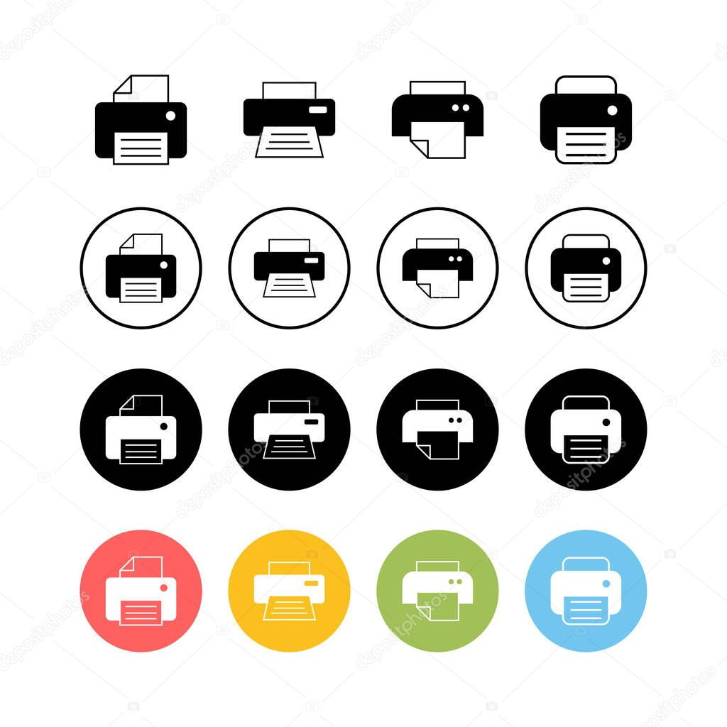 set of printer icons print icon fax vector icon premium vector in adobe illustrator ai ai format encapsulated postscript eps eps format set of printer icons print icon fax