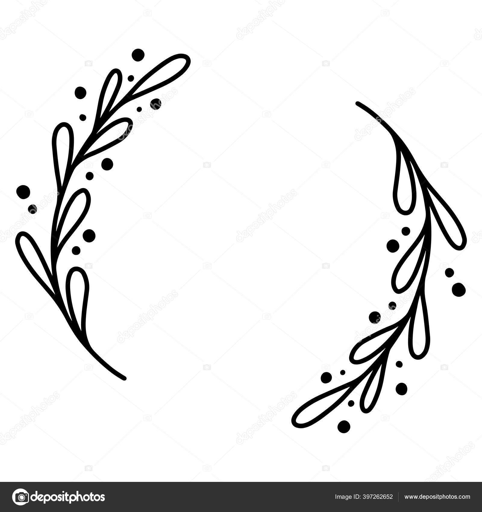 bingkai bunga dengan gambar tangan 0017 stok vektor c wanchana365 397262652 https id depositphotos com 397262652 stock illustration 0017 hand drawn floral frame html