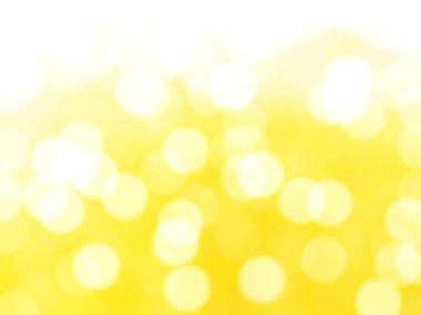 Defocused Unique Abstract Yellow Bokeh Festive Lights