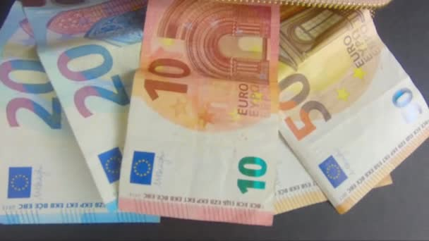 banknotes of 10 20 50 euro fan-shaped
