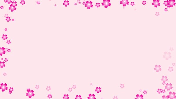 pink flowers frame on pink background ,can use for wedding, valentines, or any romantic purpose