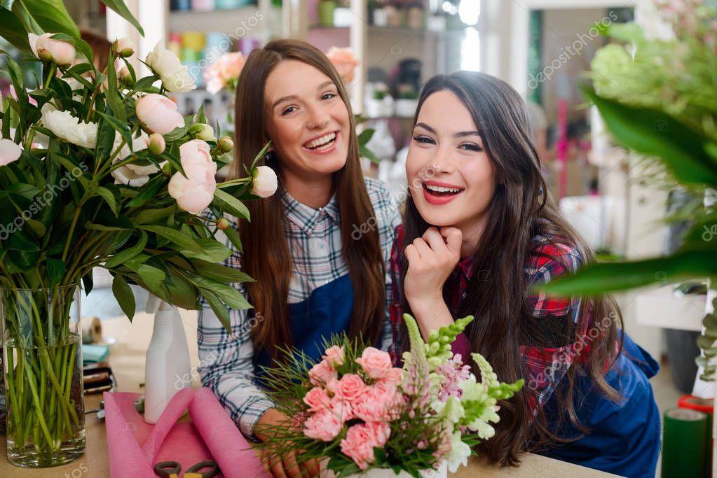 Women in the flower shop