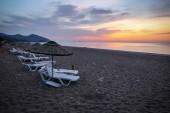 Sunrise at Cirali Ceach in Antalya City, Turkey