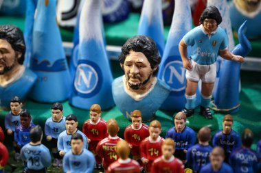Diego Maradona Miniature in Naples City, Italy