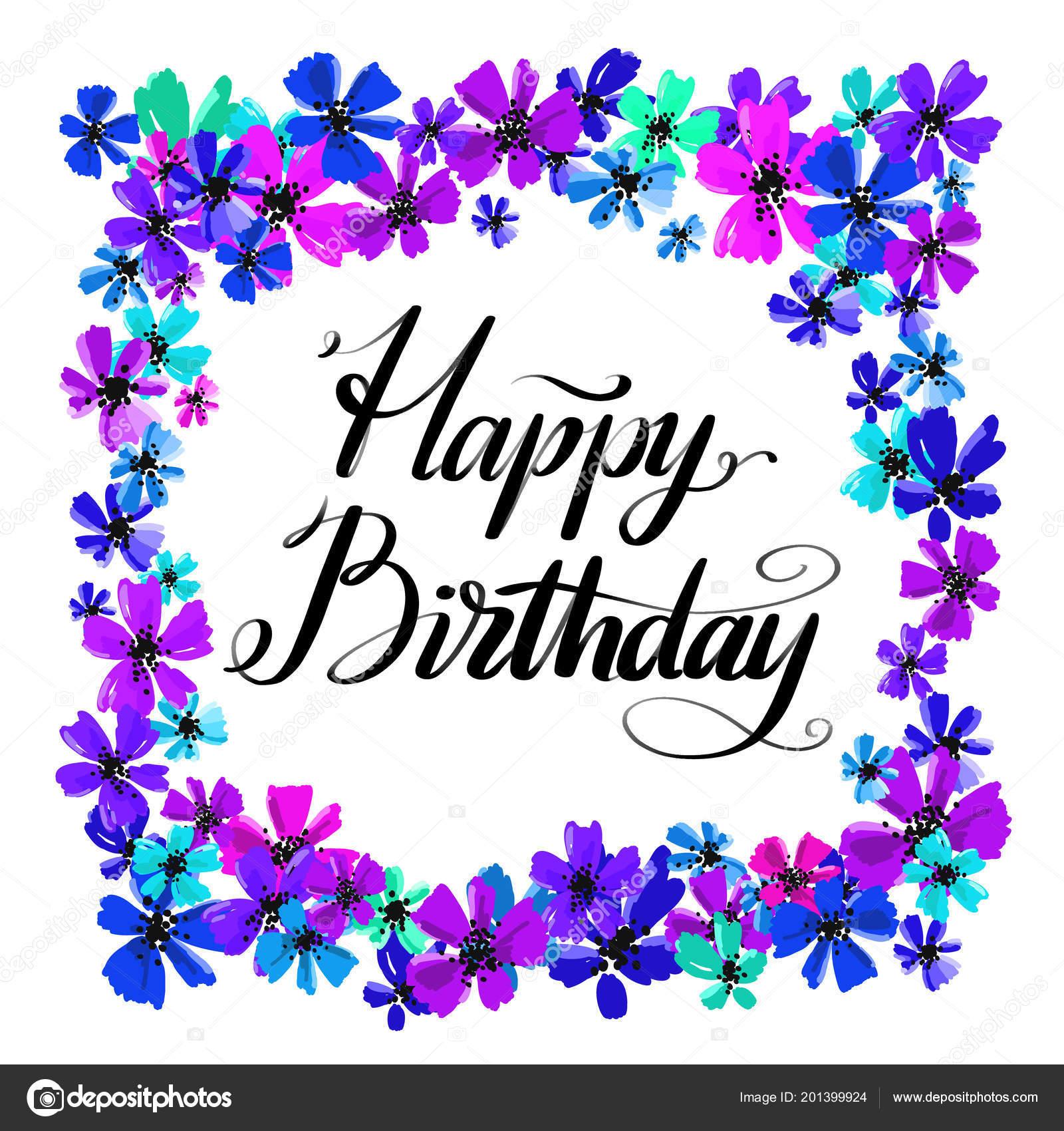 Postales Para Descargar De Cumpleaños Letras Vector