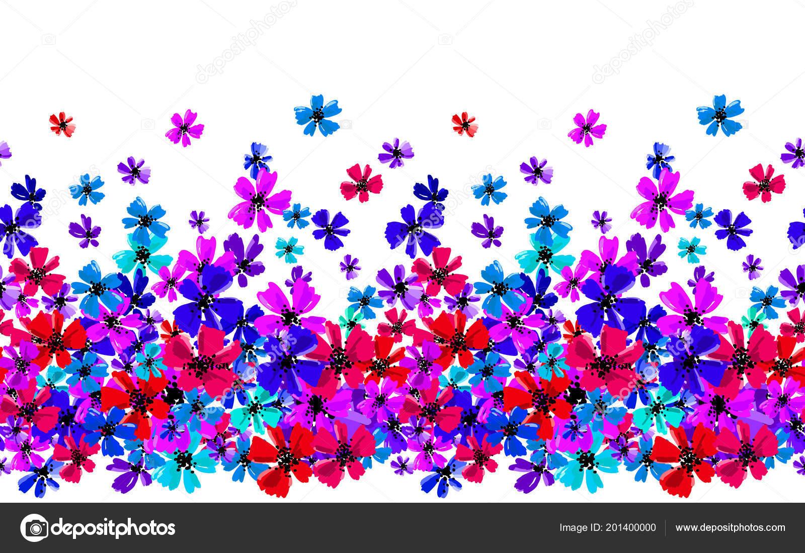 手描きの花多色明るい芸術的な植物イラスト分離花要素再現性のある