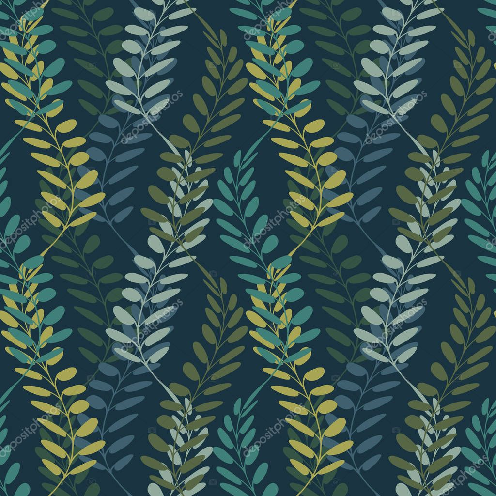 Background with floral motif. Vector texture with hand drawn plants. Vector pattern.