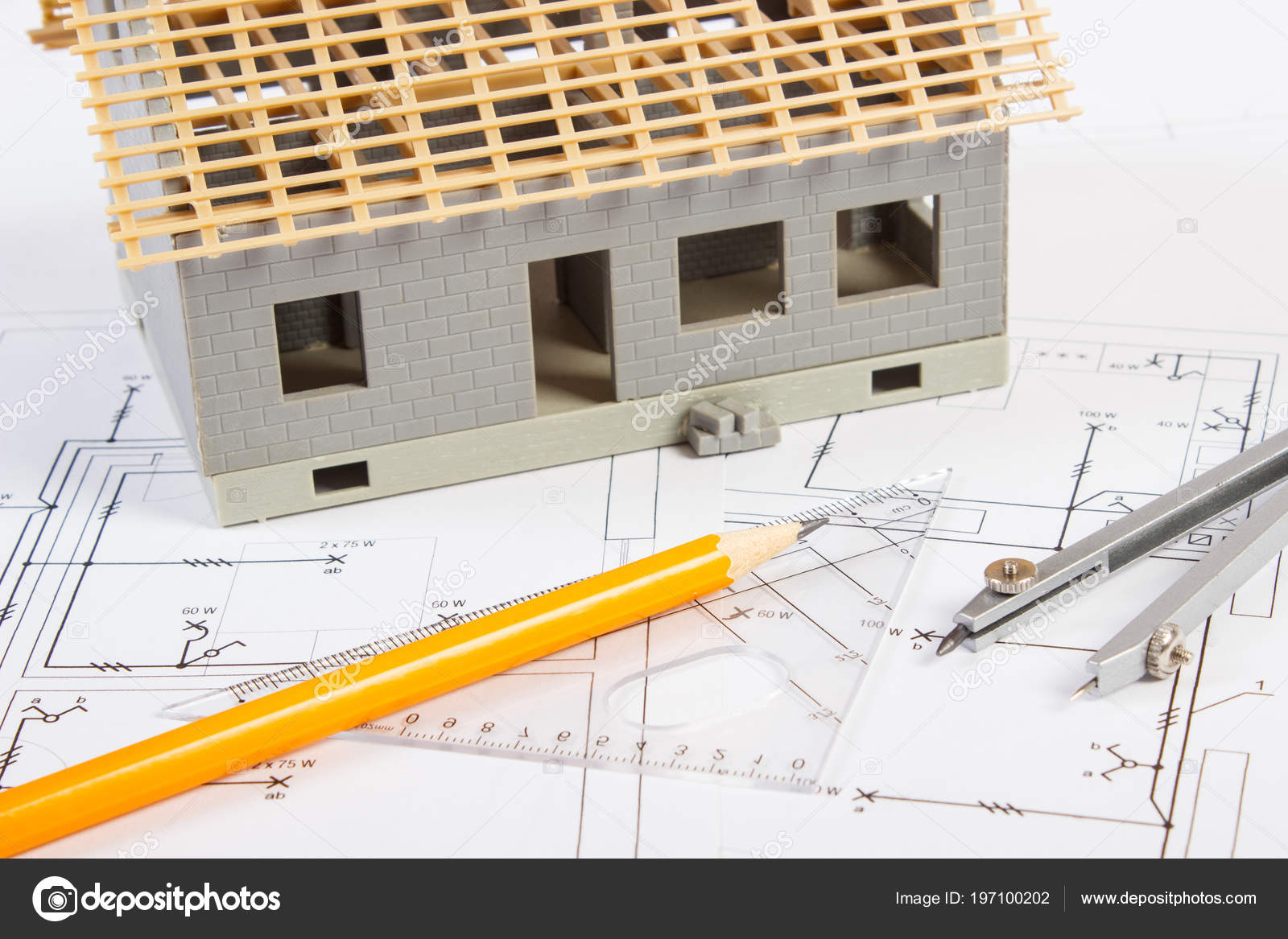 House Construction Accessories Drawing Electrical Diagrams Project ...
