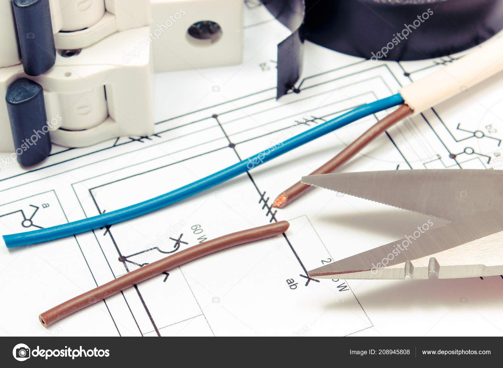 Kabelovy Nuz Elektricky Kabel Pojistka Stavebni Vykres Domu