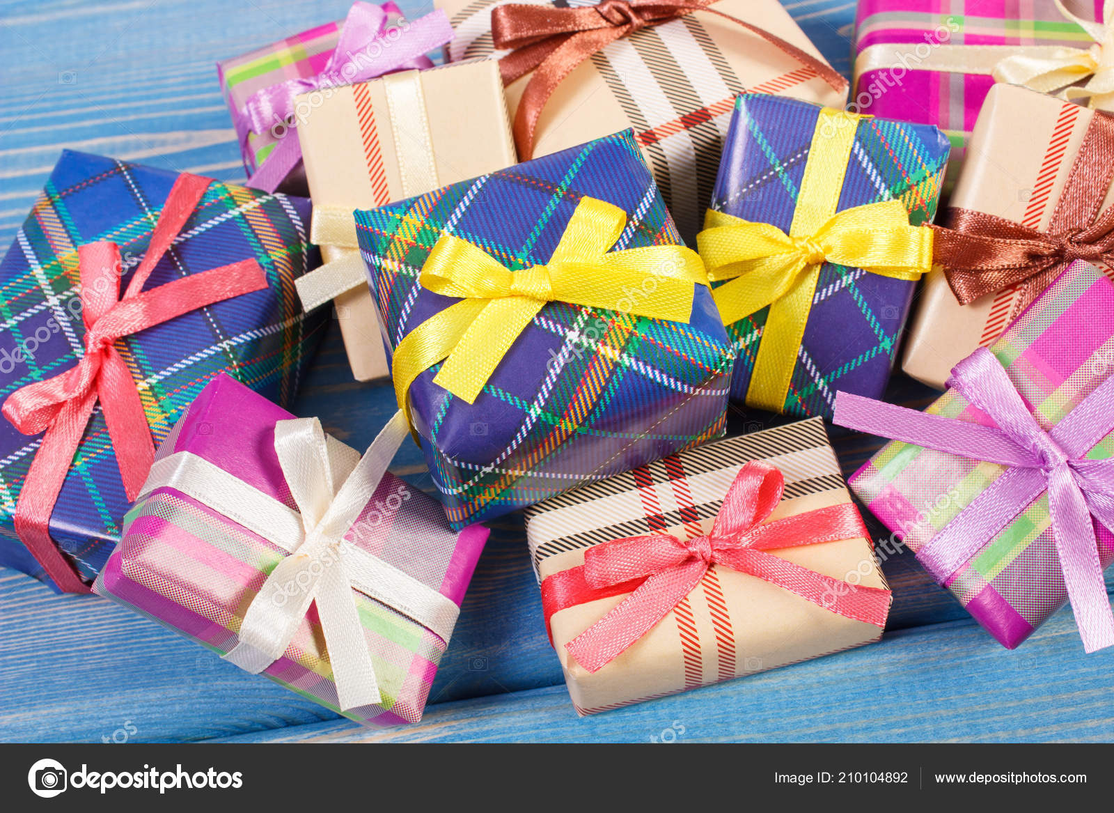 Wrapped Gifts Ribbons Christmas Valentine Birthday Other