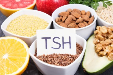 Best nutritious food for healthy thyroid. Natural eating as source vitamins and minerals