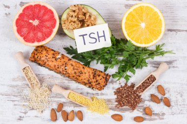 Best food for healthy thyroid. Natural eating as source vitamins and minerals