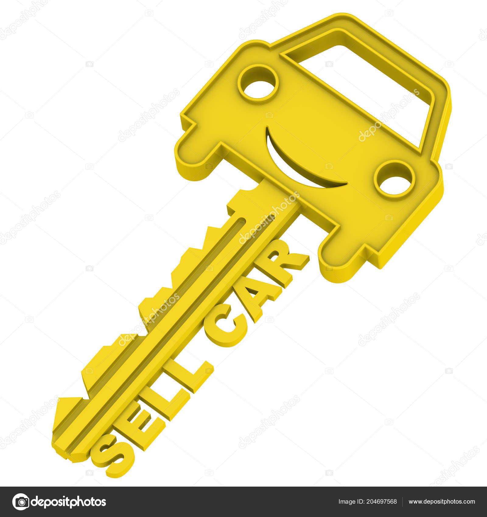Car Key Inscription Sell Car Gold Key Car Symbol Inscription