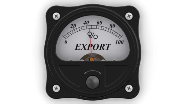 The export indicator in action. The analog indicator is showing the level of the EXPORT in percentages. Footage video