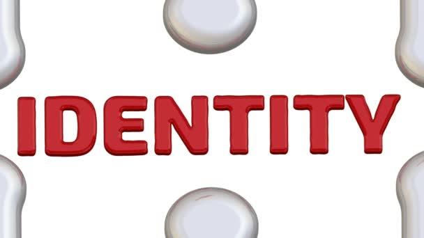 Id2020. A felirat a hiányzó elem a puzzle. Hajtogatott, fehér rejtvények elemek és egy piros Id2020 a helyére, és a piros szó identitás esik szó. Felvételeket videóinak