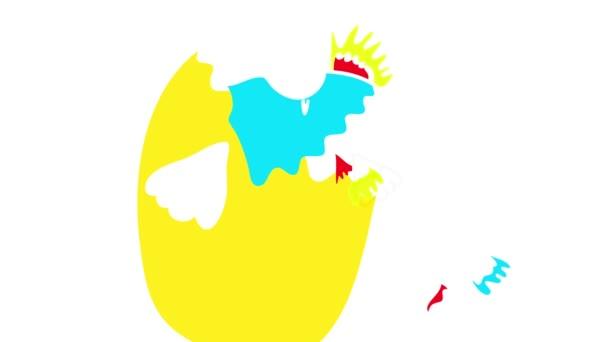 Lelassítja az animációt a ritka kihalt madarak rajzolásának rugózó hatásával, szivárványtollal, nyitott szemmel a feje fölött, hegyes borítással és nagy testtel, kis lábainak arányában.