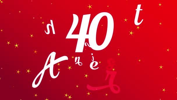 Pattogó Flat Elements Alakuló Ünnepi bankett Meghívó 40 időszak Barátság Glamorous Részletek sugallja, hogy a magas minősítési esemény