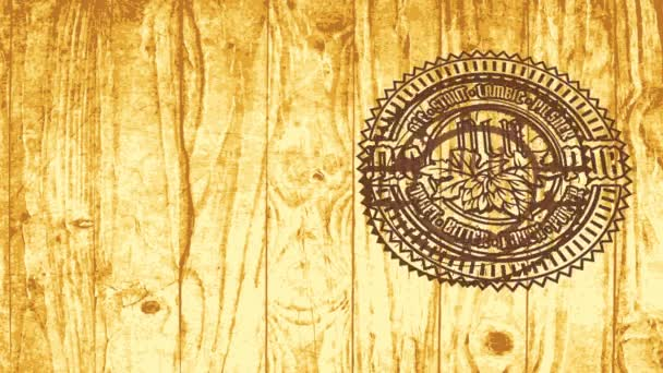 Speed Ramping Motion Effect Applied to Skill Distillery Beer The Elderly Bistro Trademark With Shattered Icon On Timber Table Raum für die Beschäftigung in der Alkoholindustrie